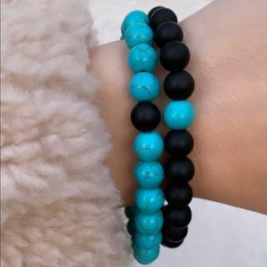 Turquoise bracelets for couples